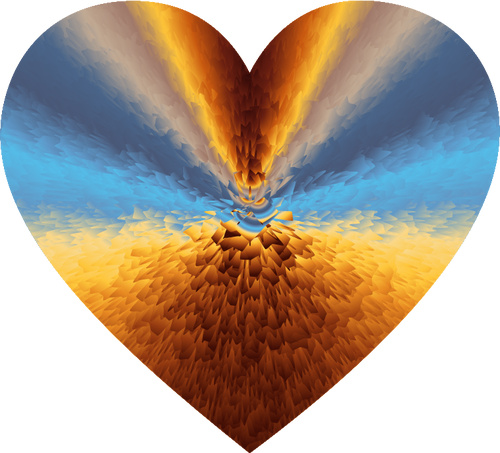 picture of a colorful heart