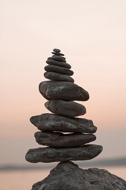 stack of stones perfectly balanced