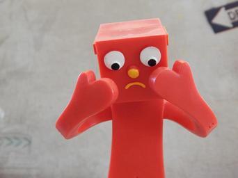 picture of a sad figurine